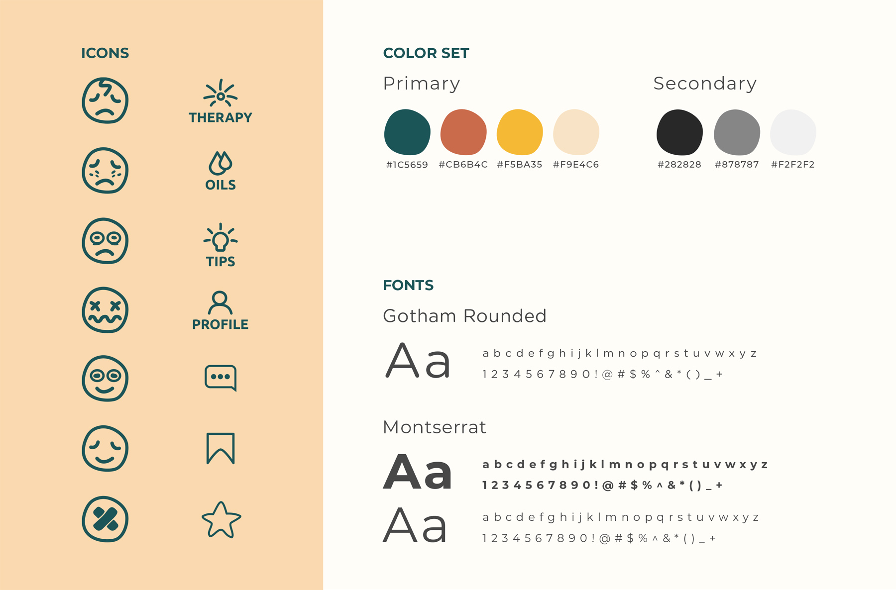 Aromalab Icon Set, Color Set and Typeface